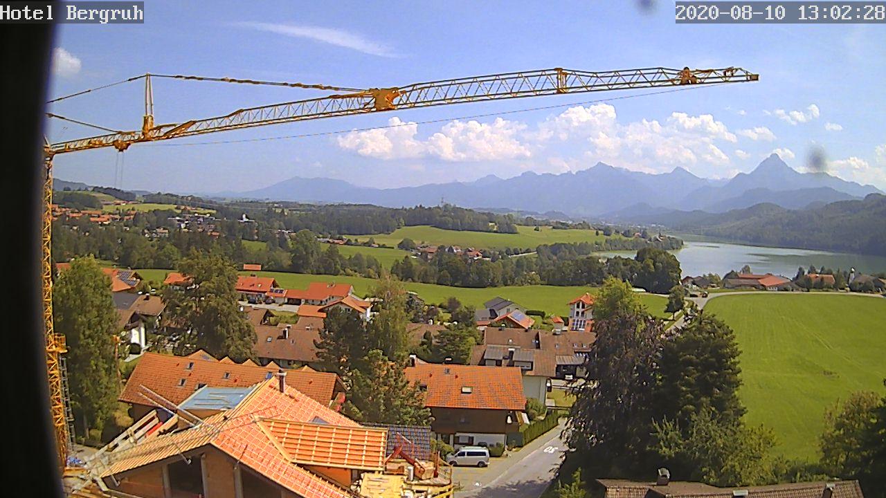 Webcam Wellnesshotel Bergruh in Füssen im Allgäu